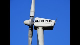 Windpark Werbig with 5 An Bonus wind turbines and new wind farms discovered