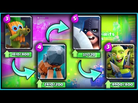 "Thumbnail: ALL NEW CARDS GAMEPLAY! • Clash Royale! • ""Dart Goblin"" ""Battle Ram"" ""Goblin Gang"" ""Executioner"""