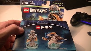 LEGO DIMENSIONS NINJAGO ZANE AND NINJACOPTER UNBOXING AND BUILD