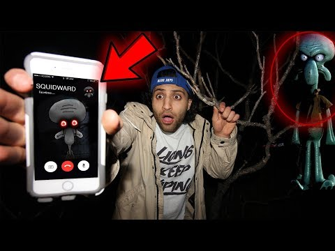 CALLING SQUIDWARD ON FACETIME AT 3 AM!! (CHASED UP THROUGH THE FOREST )