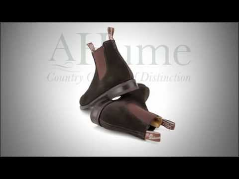 RM Williams Suede Comfort Craftsman Boot (Chocolate) from A Hume