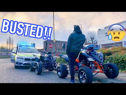 BUSTED BY THE POLICE ON MY SUPER QUAD IN LONDON!! *ARGUMENT**