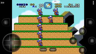Sonic em: Super Mario World Snes - (Chocolate Island) Completo