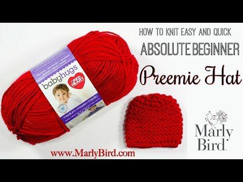 Free Beginner Knit Preemie Hat Pattern for Charity