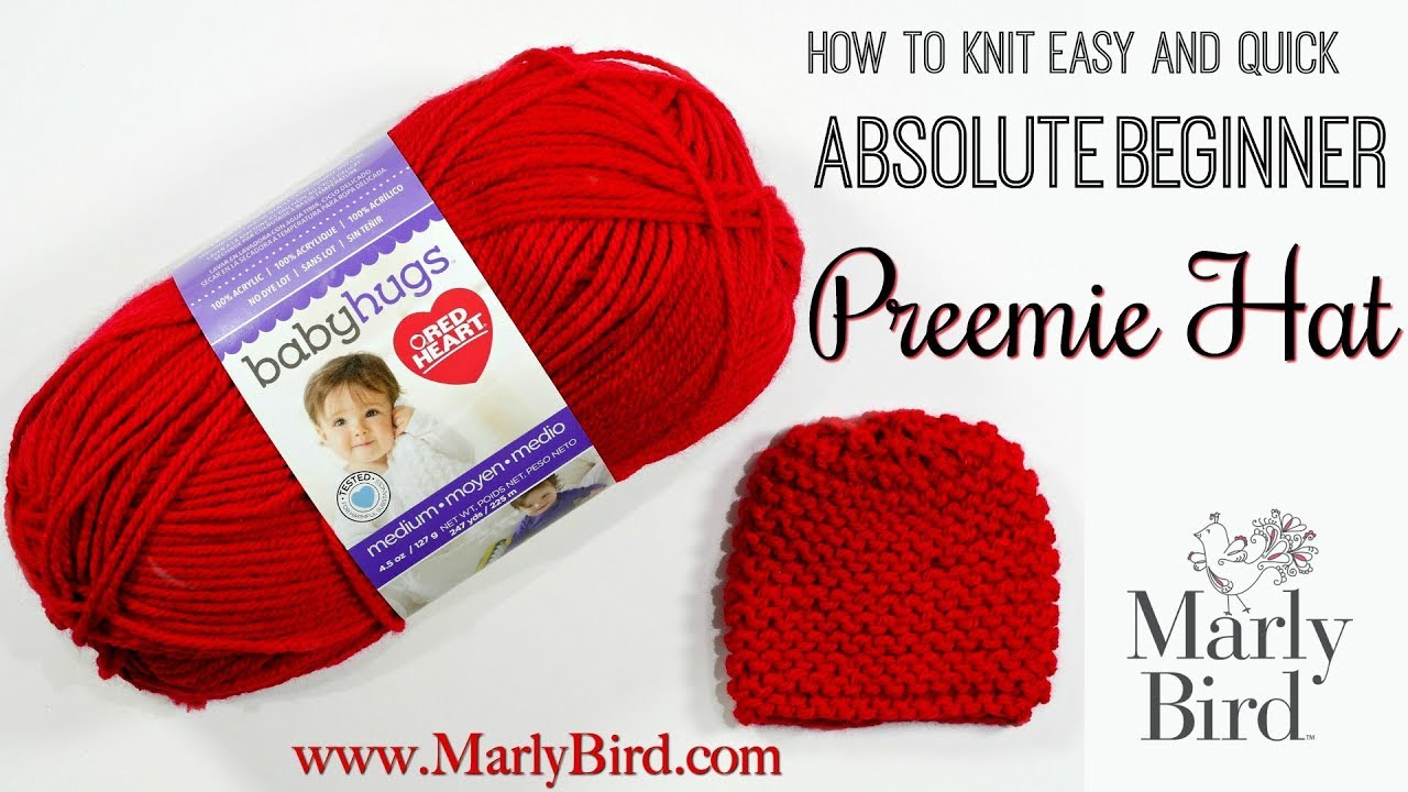 Free Beginner Knit Preemie Hat Pattern for Charity - YouTube