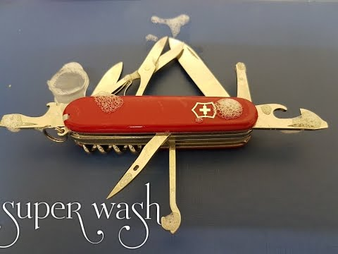 how to clean swiss army knife!