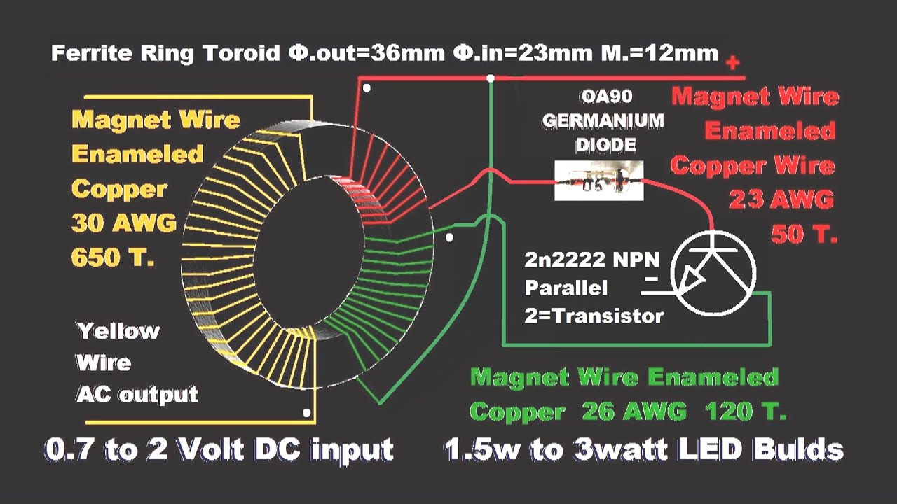 Wiring Schematic For Led Lamp Aa 32 Diagram Images Single Cell Driver Using Lt1932 Maxresdefault Make Emergency Light Diy Circuit Youtube At