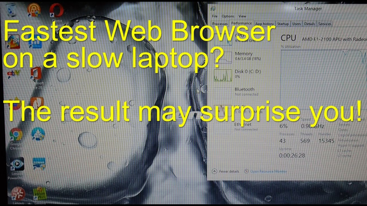 Fastest Web Browser For A Slow Computer Ie Vs Opera Vs Chrome Vs Firefox Youtube