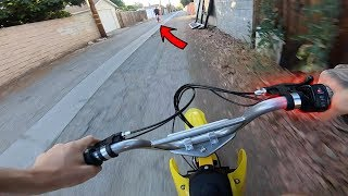 RIDING A DIRT BIKE IN THE STREETS!