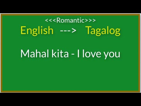 English To Tagalog Translation | Basic Filipino Romantic Words | Love And Relationship
