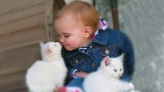 Cute Babies Snuggling Cats - Funny Cat loves Baby Compilation