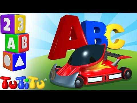 TuTiTu Preschool | ABC Song | Race Cars | Learning the Alphabet with TuTiTu