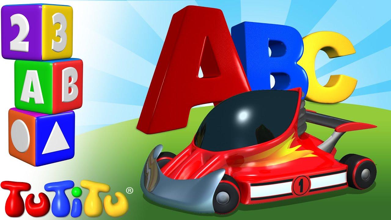 Tutitu Preschool Abc Song Race Cars Learning The Alphabet With Tutitu