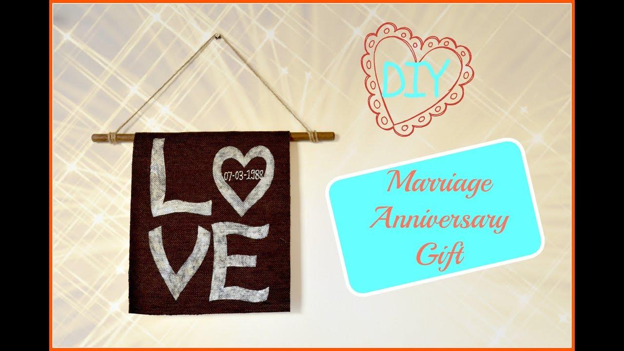 Diy marriage anniversary gift i easy handmade gift idea for
