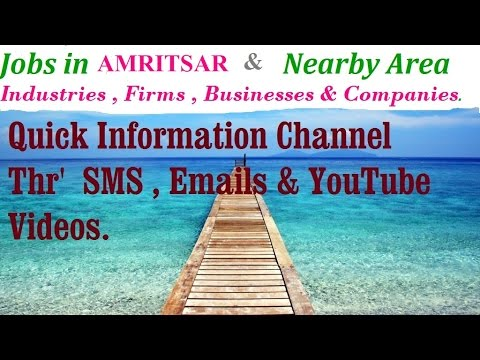 JOBS in AMRITSAR        for Freshers & graduates. Industries,  companies.
