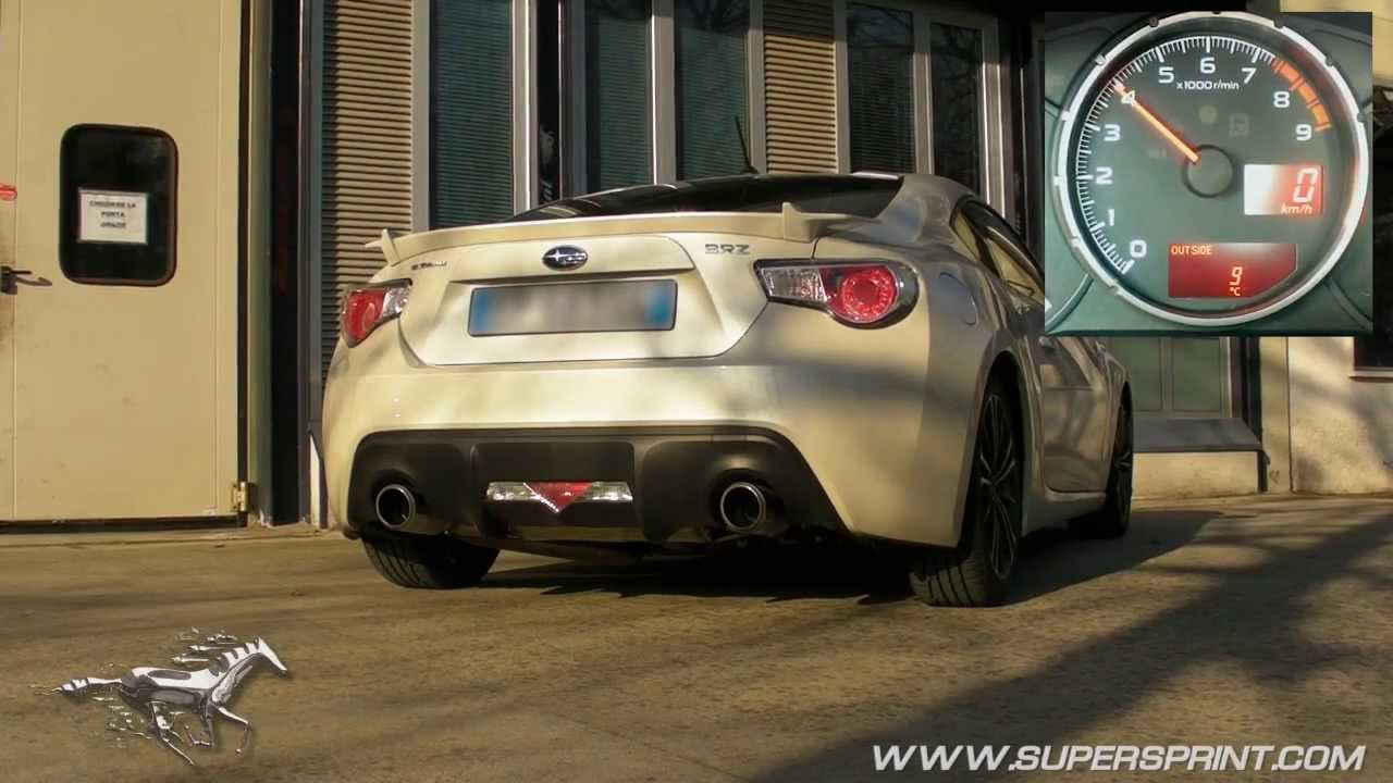 subaru brz exhaust by supersprint also for gt86 and frs overpipe back system 10 hp