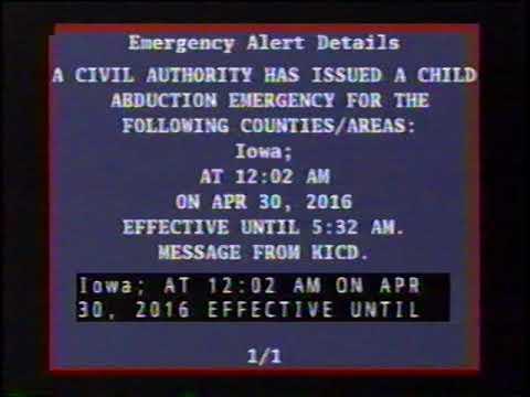 KICD Emergency Alert (April 30, 2016)