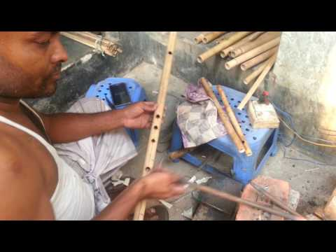 How to make a Bamboo Flute  Bamboo Flute Making MAKING OF INDIAN BAMBOO FLUTE