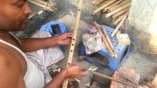 How to make a Bamboo Flute  Bamboo Flute Making MAKING OF IN...