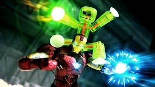 Ironman and Stikbot stop motion - The Green Power
