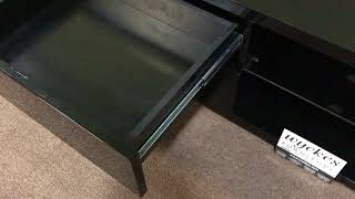 5530 Black Modern Gloss Finish TV Stand Wyckes