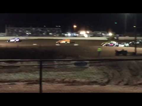 Abilene Speedway Ice Breaker Modified heat #2  2-17-17