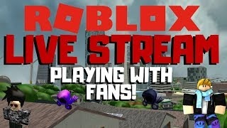 Playing Roblox Games Live   Murder Mystery, Survivor and More! (With fans)