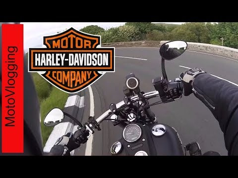 Harley Street Bob Rider Takes it to the mountain road  - Isle of Man