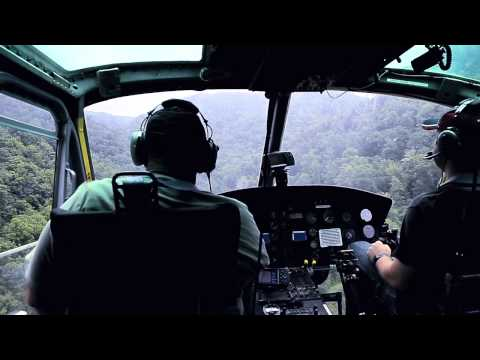 UH-1 Huey Helicopter Military Approach and Landing