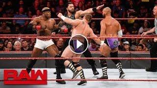 WWE MONDAY NIGHT RAW ROMAN REIGNS amp BOBBY LASHLEY Vs THE REVIVAL FULL MATCH
