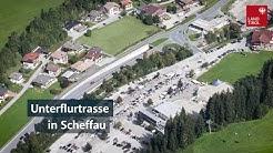 Unterflurtrasse in Scheffau
