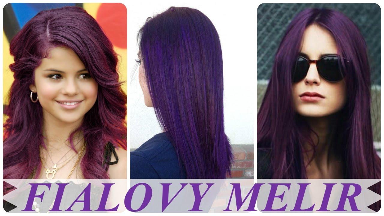 fialove vlasy ombre