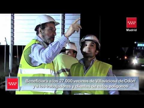 Pablo Cavero, Consejero de Transportes, en Villaviciosa de Odón