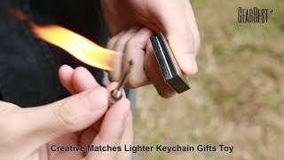 Creative Matches Lighter Keychain Gifts Toy - GearBest.com