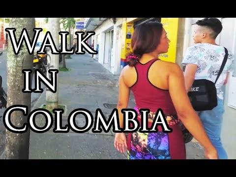 (1/2) Walking Around Envigado Medellin Colombia  - Copyright Free