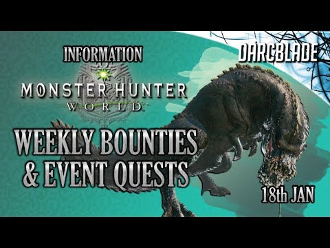 Extreme Behemoth on PC! Weekly Limited Bounties & Event Quests : Monster Hunter World : 18th Jan 19 thumbnail
