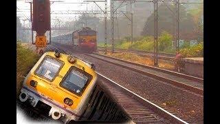 WCAM-3 vs Local Train | 11401 Nandigram Express | Mumbai local train
