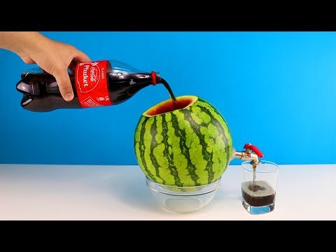 Wassermelone Und Coca Cola Party Trick - DiY