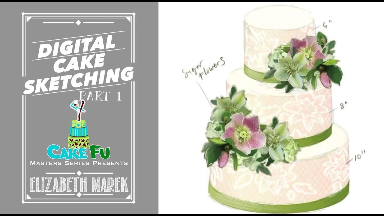 Digital Cake Sketching with Elizabeth Marek Part 1 - YouTube