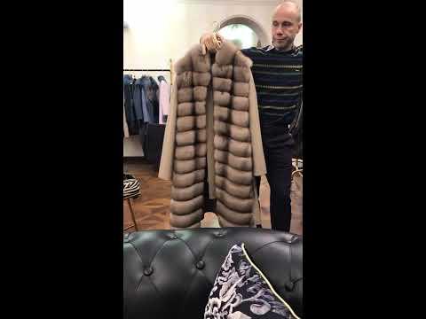 Купить пальто с мехом соболя в Милане:(+39)3341694865