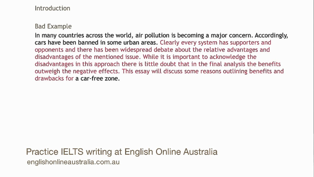 introduction of ielts essay Ielts writing task 2 opinion essays can be hard for some people ben shows you two ways to deal with task 2 opinion essays with this walkthrough.