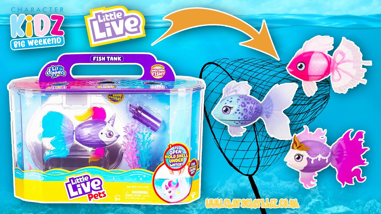Little Live Pets Lil Dippers Fish Playset Youtube