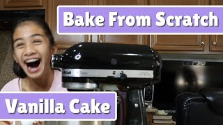 How To Bake A Vanilla Cake From Scratch - Tutorial - So Typical Jane