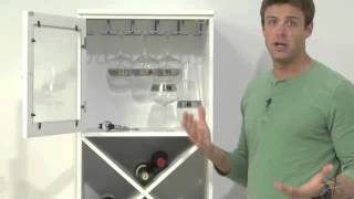 Lucca Home Enclosed Top Storage Cabinet - White - Product Review Video