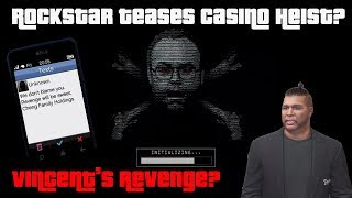 GTA Online Rockstar Teases New Casino DLC Heist? Is Vincent Planning His Revenge?