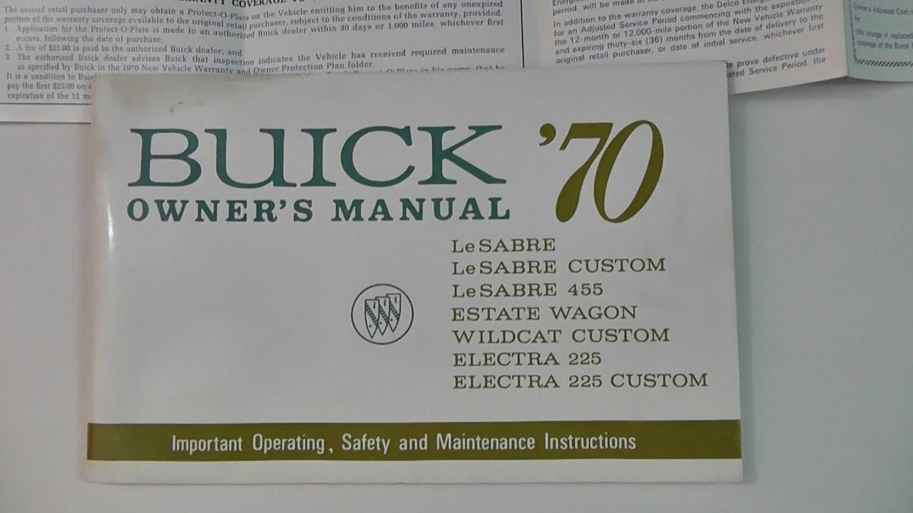 1970 buick owner s manual lesabre wildcat electra 225 and warranty rh youtube com buick lesabre owners manual 2005 2002 buick lesabre owners manual
