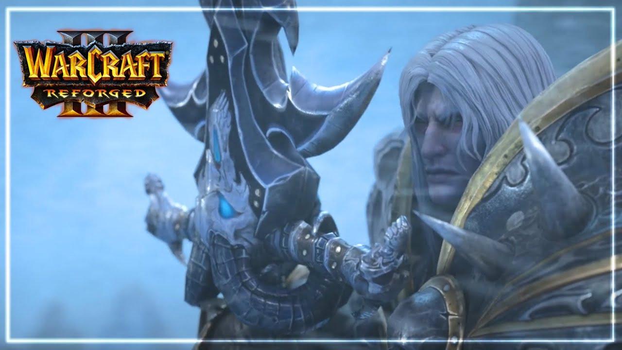 Illidan Vs Arthas Fight Cinematic Warcraft 3 Reforged Youtube