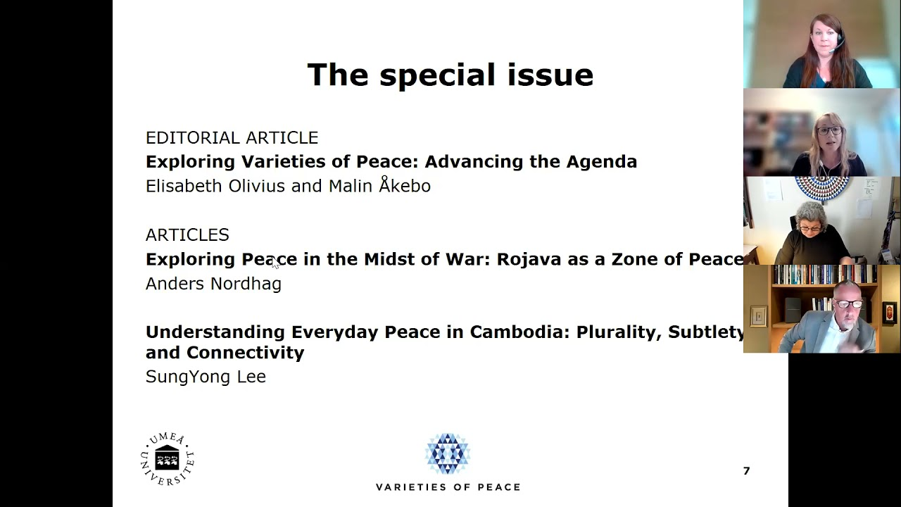 """Watch the launch of our Special Issue """"Exploring Varieties of Peace"""""""