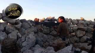 معركة صدى القصير :: استهداف الحاجز بقناصة دوشكا )/7/2013