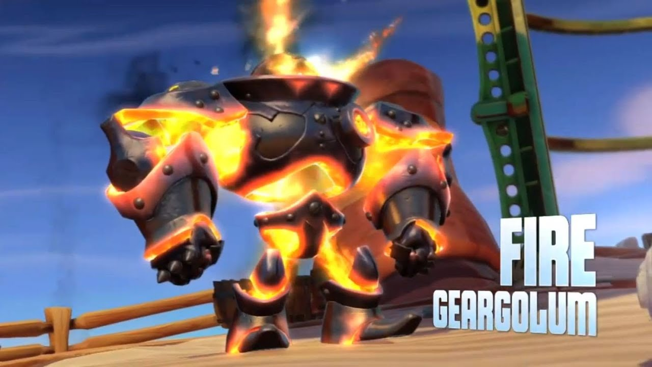 skylanders swap force wash charge gameplay fire geargolum mini